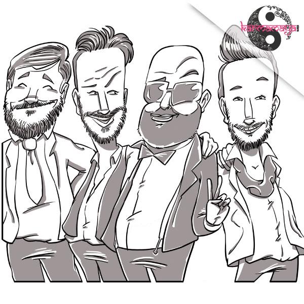 Caricatura-B-N-MAX-5-PERSONE